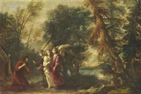 abraham and the three angels by francesco (cecco bravo) montelatici