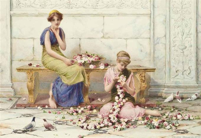 rose garlands by henry ryland