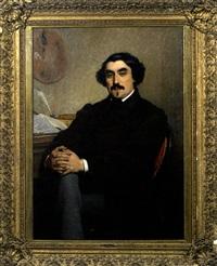 portrait d'homme lisant une lettre by charles billoin
