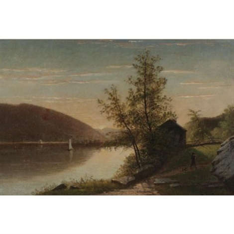 hut on the hudson by james augustus suydam