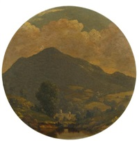 hussey's hill, roundout, new york by jervis mcentee