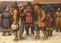 scènes de café (+ groupe de personnages; pair) by simon glatzer