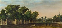 prachtvolles schloss in einem park by bernardo bellotto