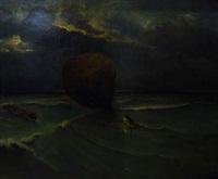 sauvetage d'un ballon libre en mer by eugene jacques hubert wolters