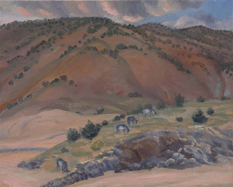 landscape santa fe by john french sloan