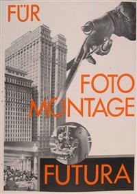 werbebroschüre futura. für fotomontage futura by paul renner