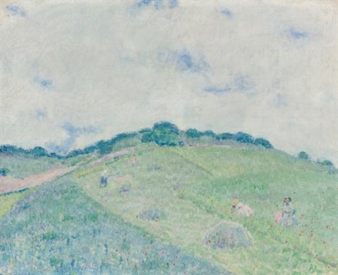 hill at giverny by frederick carl frieseke