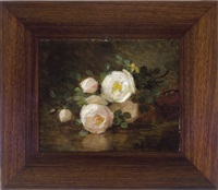 roses reflected on a table by anna eliza hardy