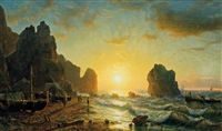 sunset, capri by william stanley haseltine