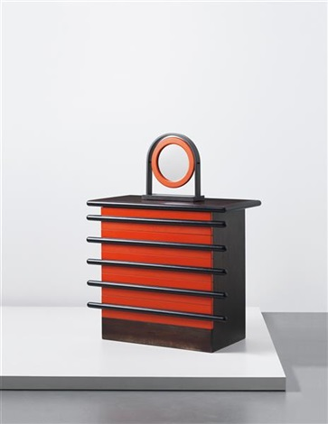 rare bastonio chest of drawers with adjustable mirror by ettore sottsass