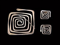 brooch and earrings by ed wiener