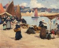 le marché breton by fernand marie eugène legout-gérard
