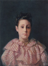 portrait of a young girl by lucius wolcott hitchcock