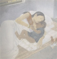 mother and child by sushil sen