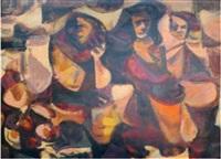 women in black and orange by romeo v. tabuena