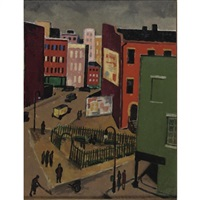 sheridan square by niles spencer