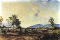 looking towards the dandenongs by henry eason davies