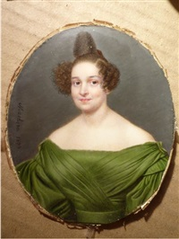 portrait de dame à la robe verte by ferdinand machera