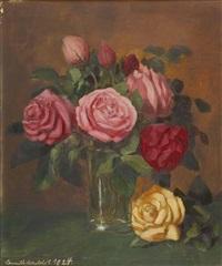 rosenstrauß in vase by camill macklot