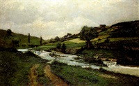river in a landscape by henry golden dearth
