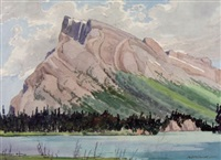 mountain scene by murray william macdonald