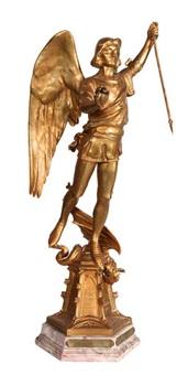 saint michel écrasant le dragon by charles samuel