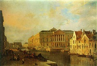 the courthouse, ghent by françois jean louis boulanger