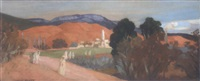 paysage aux alentours de ain-sefra by jacques denier