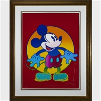 mickey mouse; minnie mouse (2 works) by peter max