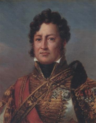 portrait du duc dorléans futur louis philippe en costume de général des hussards by henri joseph hesse