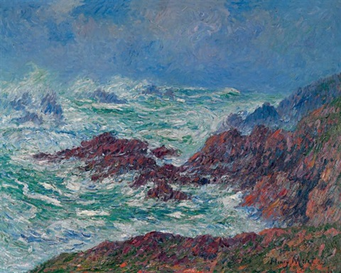 grosse mer ouessant finistère by henry moret