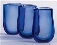 ensemble de trois vases (set of 3) by per lutken