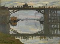 le pont de bois by claude monet