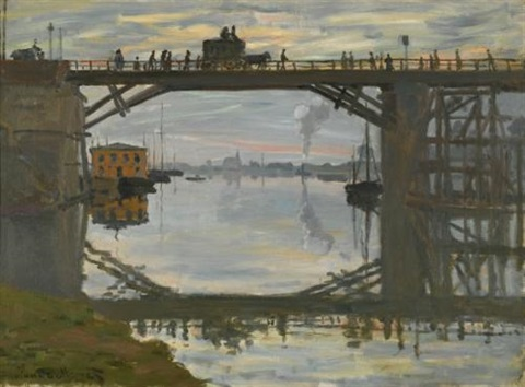 le pont de bois by claude monet