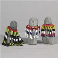 figure (+ 2 others; 3 works) by eva talooki aliktiluk