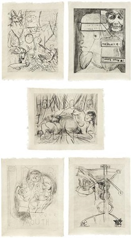 untitled i ii iii iv v set of 5 by martin kippenberger