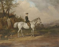 a young boy on a dappled gray by joseph dunn