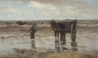 gathering seaweed by jacob henricus maris
