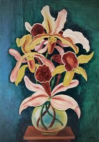vase d' orchidées by moïse kisling