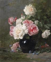 rosenstrauß in einer vase by louis marie lemaire