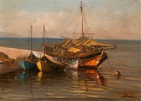 fishing boats by antonis kanas