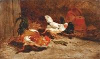 la chasse au lézard by leon-antoine-lucien couturier