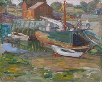 rockport harbor by charles salis kaelin