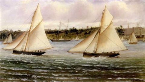 sailing off sidney by charles f gerrard