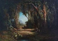 promeneurs dans la forêt des comores by charles merme