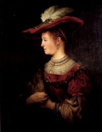 portrait of saskia van uylenburgh by johanna hassebrauck-kortling