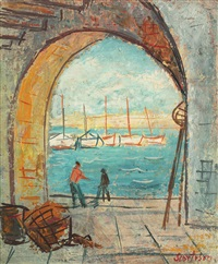 pescari în villefranche by paul scortesco