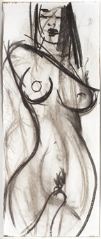 two female nude studies, a pair (2) by luciano castelli