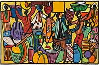 market scene by francois thango