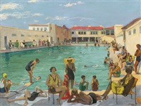 winter in florida by john lavery